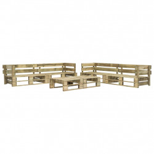 Set mobilier de gradina din paleti, 6 piese, lemn - V276321V