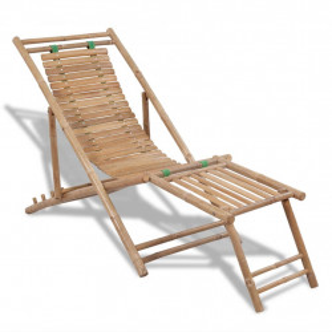 Sezlong din lemn de bambus - V41492V