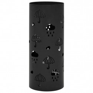 Suport pentru umbrele, model umbrelute, otel, negru - V246804V
