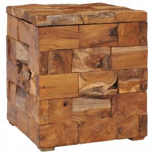 Taburet de depozitare, lemn masiv de tec - V281654V
