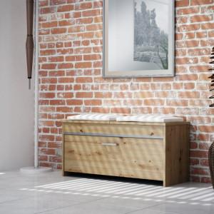 TEBAAR101 - Bancuta, pantofar 100 x 38 x 46 cm, Stejar Artisan