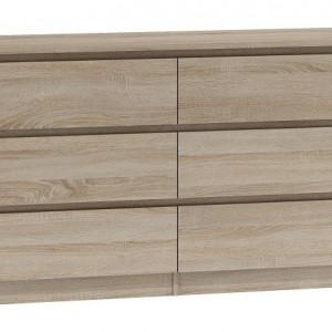 TECOS104 - Comoda 138 x 40 x 75 cm, Sonoma