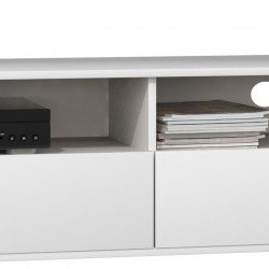 TECOTVA112 - Comoda TV 138 x 40 x 38 cm, Alb-Mat