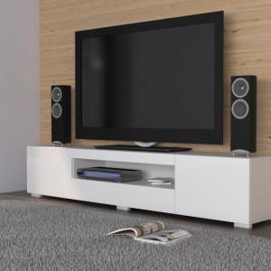 TECTV9 - Comoda TV 200 cm, living - Alb lucios