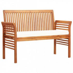 Banca gradina cu 2 locuri & perna, 120 cm, lemn masiv acacia - V45967V