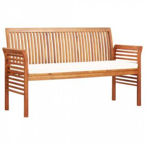 Banca gradina cu 3 locuri & perna, 150 cm, lemn masiv acacia - V45968V