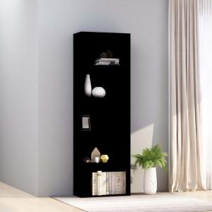 Biblioteca cu 5 rafturi, negru, 60 x 30 x 189 cm, PAL - V800991V