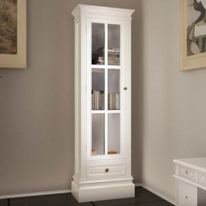 Biblioteca dulap elegant cu 3 rafturi, alb, lemn - V60639V