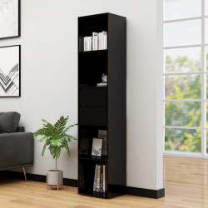 Biblioteca, negru extralucios, 36 x 30 x 171 cm, PAL - V802874V