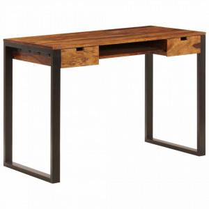 Birou, 110 x 55 x 78 cm, lemn masiv de sheesham si otel - V247963V