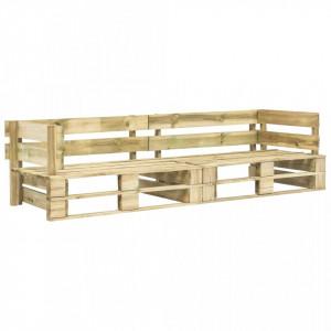 Canapea de gradina cu 2 locuri din paleti, lemn - V276311V