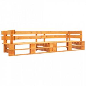 Canapea de gradina cu 2 locuri din paleti, maro miere, lemn - V277449V