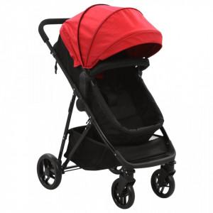 Carut/landou pentru copii 2-in-1, rosu si negru, otel - V10159V