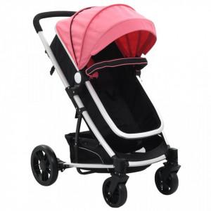 Carut/landou pentru copii 2-in-1, roz si negru, aluminiu - V10153V