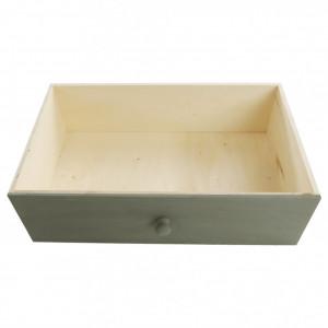 Comodă, albă/sertare colorate, MONET 1 NEW