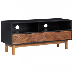 Comoda TV, 100 x 35 x 45 cm, lemn masiv de acacia si MDF - V289903V