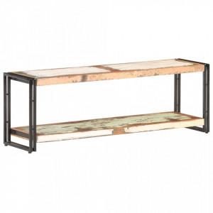 Comoda TV, 120 x 30 x 40 cm, lemn masiv reciclat - V320681V