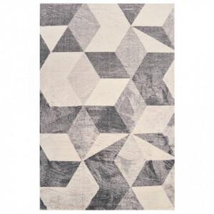 Covor cu imprimeu, bej, 160 x 230 cm, poliester - V285366V