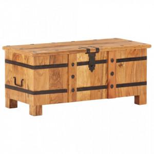 Cufar, 90 x 40 x 40 cm, lemn masiv de acacia - V289637V