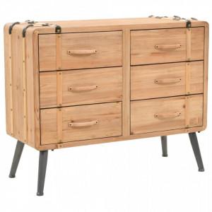 Dulap cu sertare, lemn masiv de brad, 91 x 35 x 73 cm - V245774V