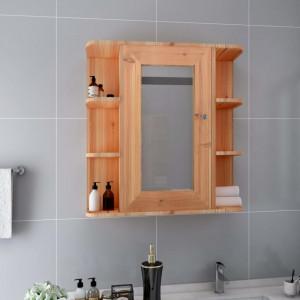Dulap de baie cu oglinda, stejar, 66 x 17 x 63 cm, MDF - V323603V
