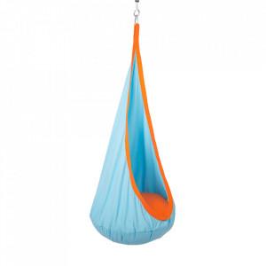Fotoliu balansoar suspendat, albastru/portocaliu, SIESTA TYP 1