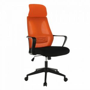 Fotoliu de birou, negru /orange TAXIS