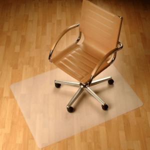 Garnitură de protecţie sub scaun, transparentă, 100x70 cm, 0, 5 mm, ELLIE NEW TYP 1