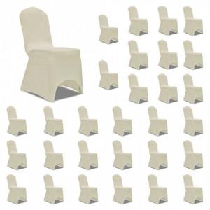 Huse de scaun elastice, 30 buc., crem - V3051643V