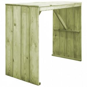 Masa de bar, 130 x 60 x 110 cm, lemn de pin tratat - V44900V