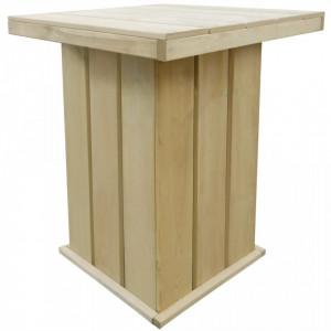 Masa de bar, 75 x 75 x 110 cm, lemn de pin tratat - V44910V