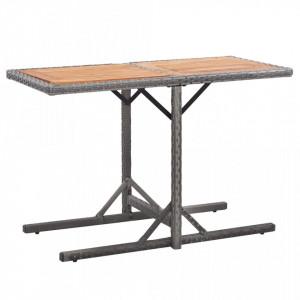 Masa de gradina, antracit, poliratan si lemn masiv de acacia - V46457V