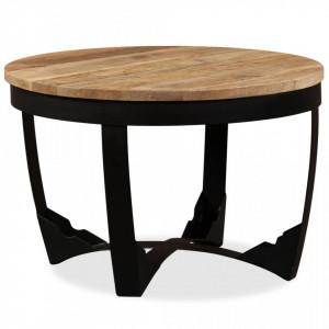 Masa laterala din lemn masiv de mango nefinisat, 60 x 40 cm - V244673V