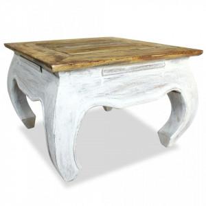 Masa laterala din lemn masiv reciclat, 50 x 50 x 35 cm - V244506V