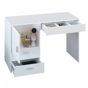 Masă multifuncţională/masă pentru croitori, alb, TAILOR