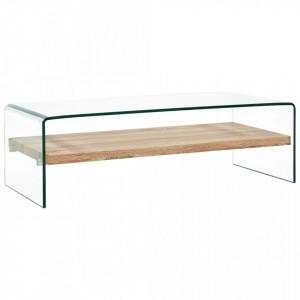 Masuta de cafea, transparent, 98x45x31 cm, sticla securizata - V284743V