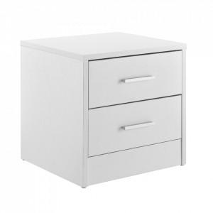Noptiera cu 2 sertare - comoda / dulap pentru birou - alb - P54985287