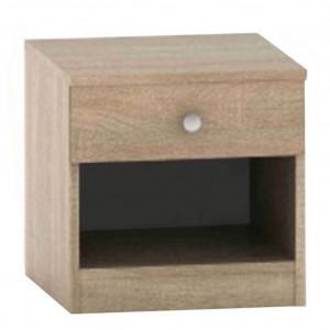 Noptieră cu sertar, stejar sonoma, BETTY 2 BE02-010-00