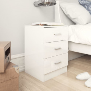 Noptiere, 2 buc., alb extralucios, 38 x 35 x 56 cm, PAL - V800463V
