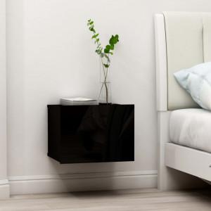 Noptiere, 2 buc., negru, 40 x 30 x 30 cm, PAL - V801056V