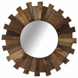 Oglinda de perete, 50 cm, lemn masiv reciclat - V246310V