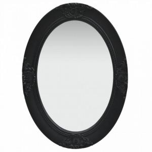 Oglinda de perete in stil baroc, negru, 50 x 70 cm - V320355V
