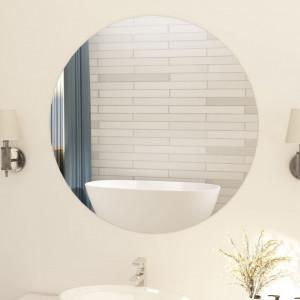 Oglinda fara rama, 90 cm, sticla, rotund - V283655V