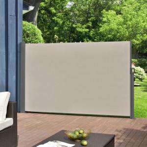 Paravan solar gradina,retractabil, protectie vizuala, 300 x 160 cm, otel sinterizat/poliester, bej/culoarea nisipului - P56718029