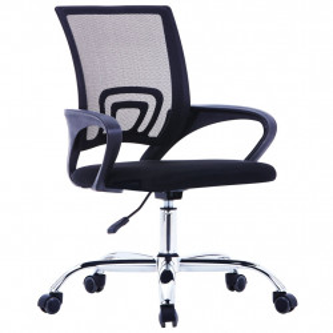 Scaun birou cu spatar din plasa, negru, material textil - V20183V