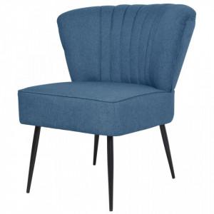 Scaun cocktail, albastru, material textil - V244098V