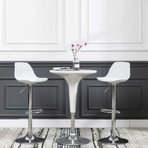 Scaun de bar, alb, piele ecologica - V249587V