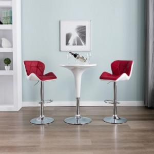 Scaun de bar, rosu vin, piele ecologica - V249675V