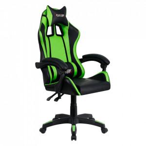 Scaun de birou / joc, verde / negru, JAMAR