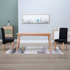 Scaune de sufragerie, 2 buc., negru, material textil - V249031V